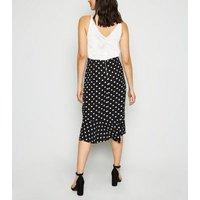 AX Paris Off White Polka Dot 2 in 1 Midi Dress New Look