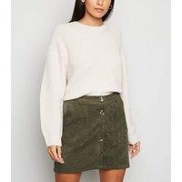 Blue Vanilla Khaki Corduroy Mini Skirt New Look