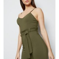 Cameo Rose Khaki Bustier Paperbag Jumpsuit New Look