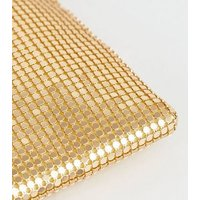 Gold Chainmail Pouch Shoulder Bag New Look