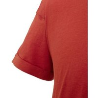 Mens Orange Roll Sleeve T-Shirt New Look