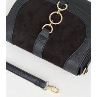 Black Ring Front Saddle Bag New Look