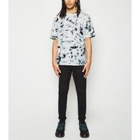 White Tie Dye Cotton T-Shirt New Look
