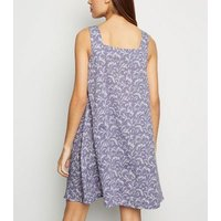 Blue Vanilla Lilac Swing Dress New Look