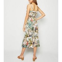 Urban Bliss Multicoloured Floral Tiered Midi Dress New Look