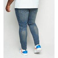 Plus Size Blue Skinny Stretch Jeans New Look