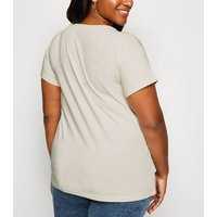Curves Off White Not My Problem Slogan T-Shirt New Look