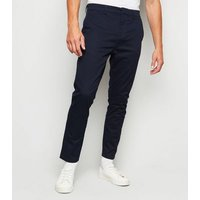 Navy Skinny Stretch Chino Trousers New Look