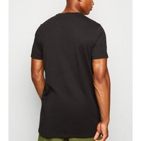 Black Crew Neck Longline T-Shirt New Look