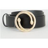 Black Snake Buckle Hip Belt New Look