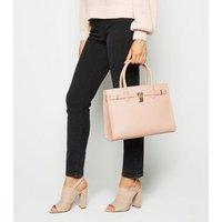 Pink Padlock Tote Bag New Look Vegan
