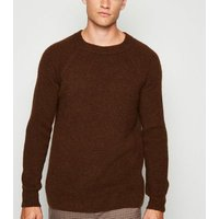 Rust Raglan Sleeve Jumper New Look