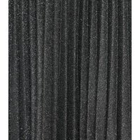 Petite Grey Glitter Pleated Midi Skirt New Look