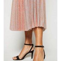 Petite Bronze Glitter Pleated Midi Skirt New Look