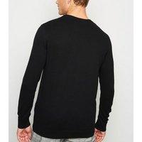Black Fine Knit Crew Neck Jumper New Look