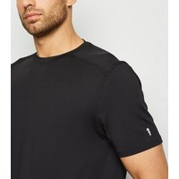 Black Short Sleeve Sports Top New Look
