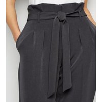 Dark Grey High Waist Tapered Trousers New Look