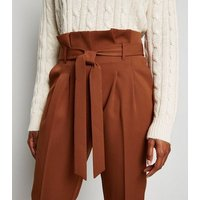 Rust High Waist Tapered Trousers New Look