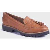 Tan Leather Chunky Tassel Loafers New Look