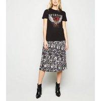 Black Heart Love Gem Slogan T-Shirt New Look