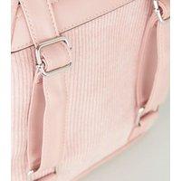Pink Cord Mini Backpack New Look