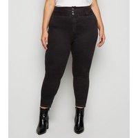 Curves Black Waist Enhance Skinny Jeans New Look