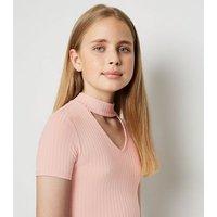 Girls Pink Choker Bodycon Dress New Look
