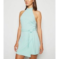 Light Green High Neck Skort Playsuit New Look