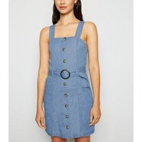 Urban Bliss Bright Blue Button Up Dress New Look