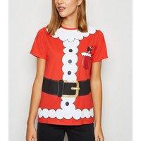 Red Christmas Santa Dress Up T-Shirt New Look