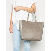 Grey Studded Tote Bag New Look Vegan