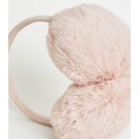 Pink Faux Fur Ear Muffs New Look