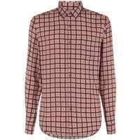 Burgundy Tile Print Shirt New Look