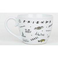 White Iconic Friends Slogan Mug New Look