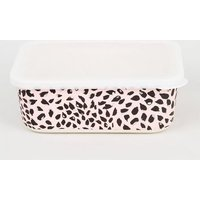 Pink Leopard Print Bamboo Lunch Box New Look