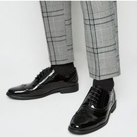 Black Patent Brogues New Look