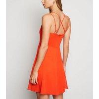 Red-Chiffon-Cross-Strap-Skater-Dress-New-Look