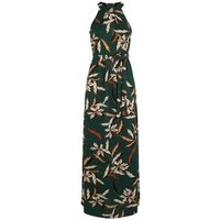 Mela Green Leaf Print Maxi Dress New Look