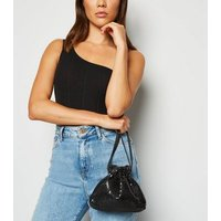Black Chainmail Pouch Cross Body Bag New Look