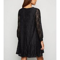 Mela Black Lace Tunic Dress New Look