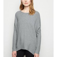 Grey Diamante Embellished Jumper New Look