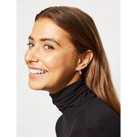 Silver Cubic Zirconia Mini Drop Earrings New Look