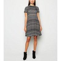 Mela Black Jersey Aztec Swing Dress New Look