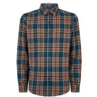 Green Brushed Check Long Sleeve Shirt New Look