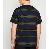Mens Blue Stripe Short Sleeve T-Shirt New Look