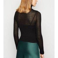 Carpe Diem Black Fine Knit Roll Neck Jumper New Look