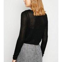 Carpe Diem Black Fine Knit Cardigan New Look