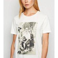 JDY White Retro Bike Photo Print T-Shirt New Look