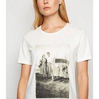 JDY White Retro Car Photo Print T-Shirt New Look