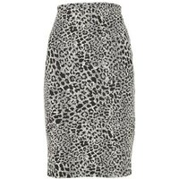 Black Leopard Print Pencil Skirt New Look